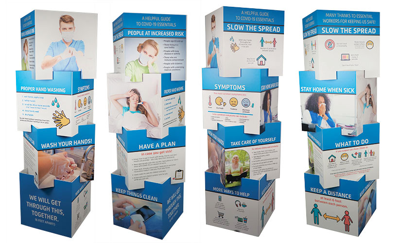 Freestanding COVID-19 Displays